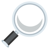 Magnifying Glass Tilted Right on EmojiOne 2.2.4