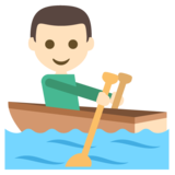 Person Rowing Boat: Light Skin Tone on EmojiOne 2.2.4
