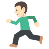 Person Running: Light Skin Tone on EmojiOne 2.2.4