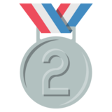 2nd Place Medal on EmojiOne 2.2.4