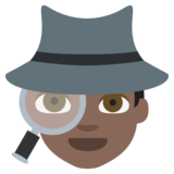 Detective: Dark Skin Tone on EmojiOne 2.2.4