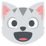 Grinning Cat Face on EmojiOne 2.2.4