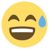 Grinning Face With Sweat on EmojiOne 2.2.4