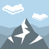 Snow-Capped Mountain on EmojiOne 2.2.4