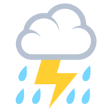 Cloud With Lightning and Rain on EmojiOne 2.2.4
