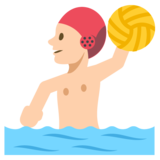 Person Playing Water Polo: Medium-Light Skin Tone on EmojiOne 2.2.4
