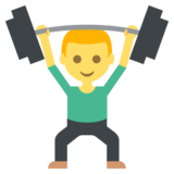 Person Lifting Weights on EmojiOne 2.2.4