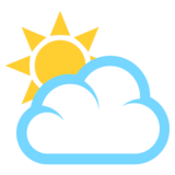 Sun Behind Large Cloud on EmojiOne 2.2.4