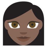 Woman: Dark Skin Tone on EmojiOne 2.2.4