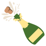 Bottle With Popping Cork on EmojiOne 2.2.5