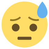 Face With Cold Sweat on EmojiOne 2.2.5