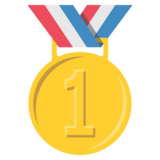 1st Place Medal on EmojiOne 2.2.5