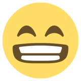 Beaming Face With Smiling Eyes on EmojiOne 2.2.5