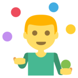 Person Juggling on EmojiOne 2.2.5