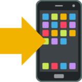 Mobile Phone With Arrow on EmojiOne 2.2.5