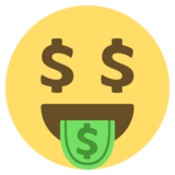Money-Mouth Face on EmojiOne 2.2.5