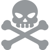 Skull and Crossbones on EmojiOne 2.2.5