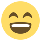 Smiling Face With Open Mouth & Smiling Eyes on EmojiOne 2.2.5