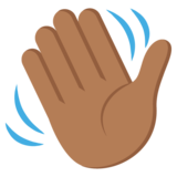 Waving Hand: Medium-Dark Skin Tone on EmojiOne 2.2.5