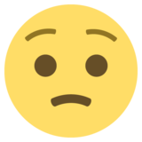 Worried Face on EmojiOne 2.2.5