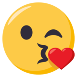 Face Blowing a Kiss on EmojiOne 3.0