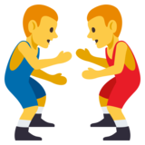 Men Wrestling on EmojiOne 3.0
