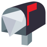 Open Mailbox With Raised Flag on EmojiOne 3.0