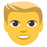 Blond-Haired Person on EmojiOne 3.0