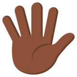 Hand With Fingers Splayed: Dark Skin Tone on EmojiOne 3.0