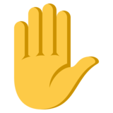 Raised Hand on EmojiOne 3.0
