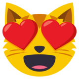 Smiling Cat Face With Heart-Eyes on EmojiOne 3.0