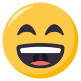 Grinning Face With Smiling Eyes on EmojiOne 3.0