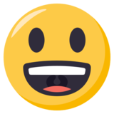 Grinning Face With Big Eyes on EmojiOne 3.0