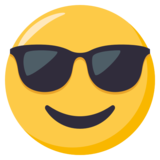 Smiling Face With Sunglasses on EmojiOne 3.0
