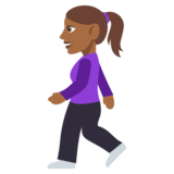 Woman Walking: Medium-Dark Skin Tone on EmojiOne 3.0
