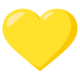 Yellow Heart on EmojiOne 3.0