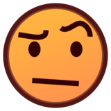Face With Raised Eyebrow on emojidex 1.0.33