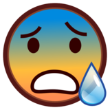 Face With Open Mouth & Cold Sweat on emojidex 1.0.33