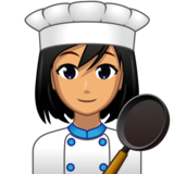 Woman Cook: Medium Skin Tone on emojidex 1.0.33