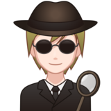 Detective: Light Skin Tone on emojidex 1.0.33