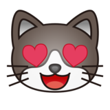 Smiling Cat Face With Heart-Eyes on emojidex 1.0.33