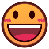 Grinning Face With Big Eyes on emojidex 1.0.33