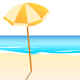 Beach With Umbrella on emojidex 1.0.34