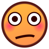 Flushed Face on emojidex 1.0.34