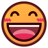 Grinning Face With Smiling Eyes on emojidex 1.0.34
