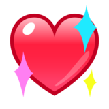 Sparkling Heart on emojidex 1.0.34
