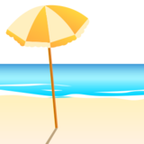 Beach With Umbrella on emojidex 1.0.14