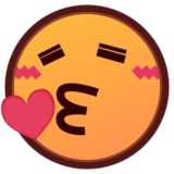 Face Blowing a Kiss on emojidex 1.0.14