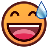 Smiling Face With Open Mouth & Cold Sweat on emojidex 1.0.14