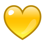 Yellow Heart on emojidex 1.0.14